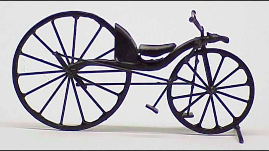 """A first bicycle, named """"draisine""""."""