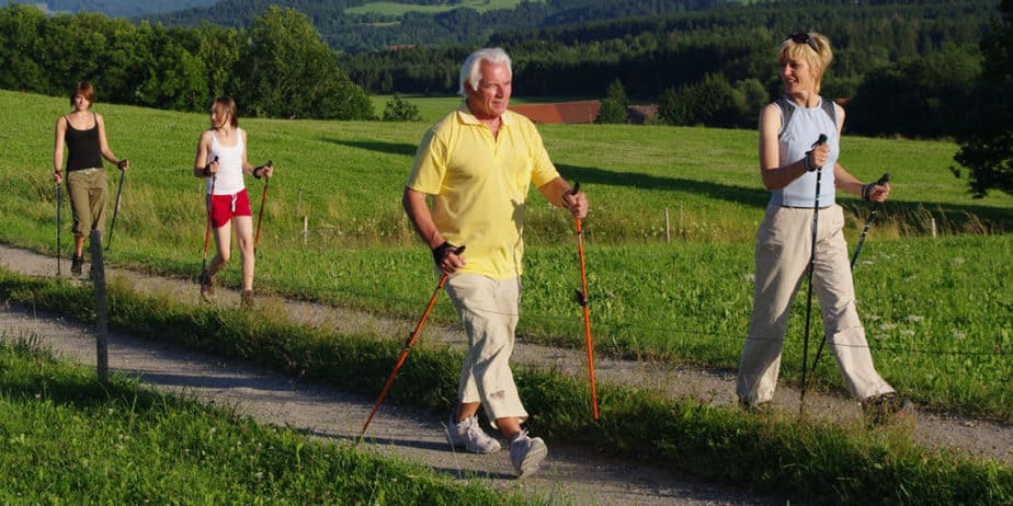 Nordic walking is suitable for all ages.