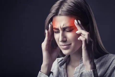A headache caused by disc herniation.