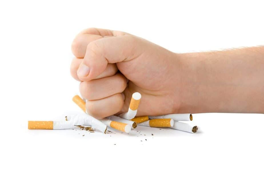 A man decides to quit smoking.