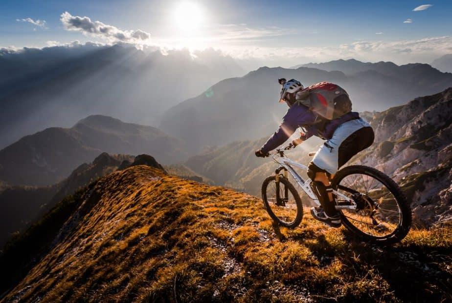 Mountain bicycle rider.