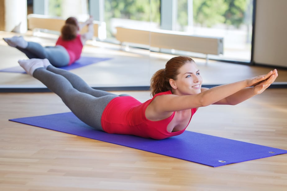 A back exercise for elimination for disc herniation pain.