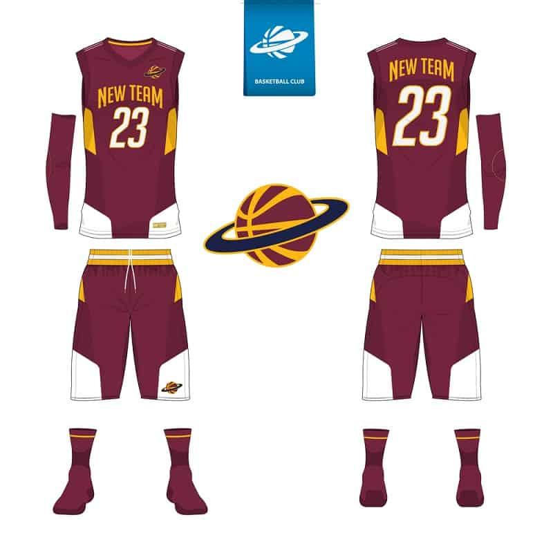 Basketball jersey equipment.