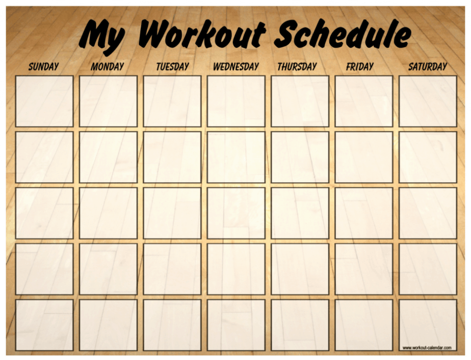 Simple way to  get ready for coming summer is having workout schedule.
