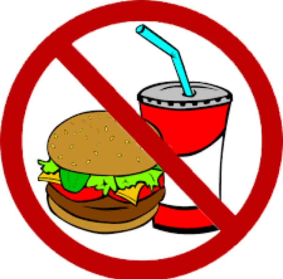 Avoid junk food and sugary drinks.