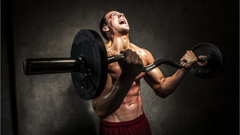 A guy has a weightlifting training to the point of pain. He's not avoiding Misconceptions