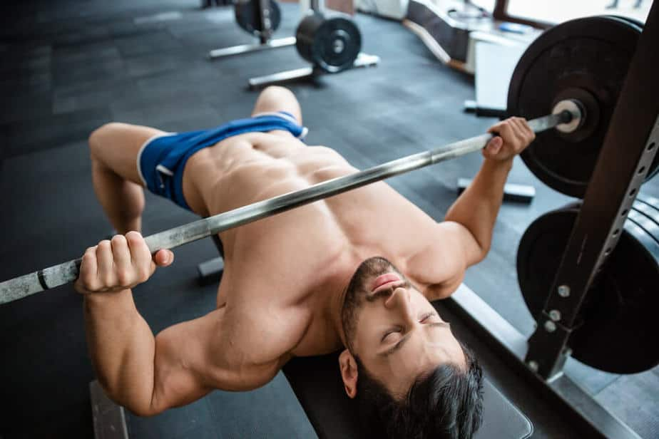 Weightlifting at the gym.