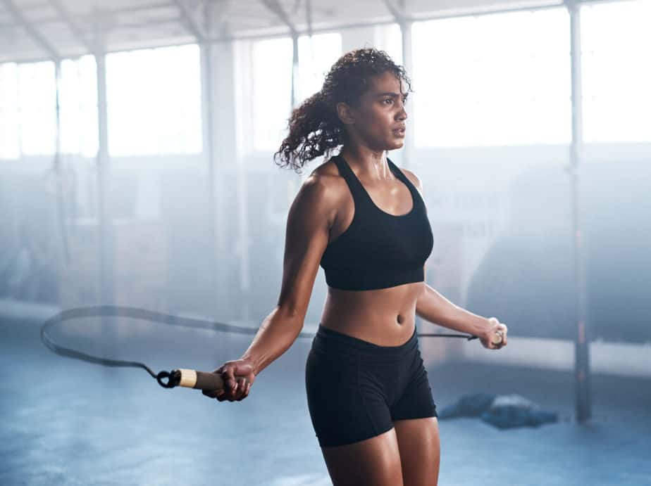 Here are some tips to help you lose weight - girl doing hard training.