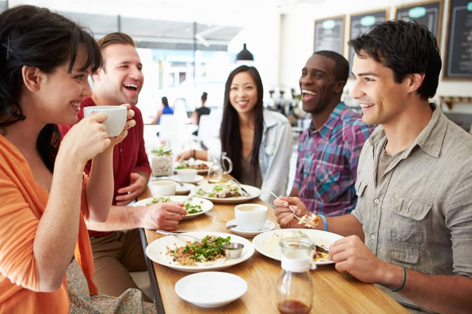 How to Get Energy and Motivation for Weight Loss? - a group of people has a diet meal.