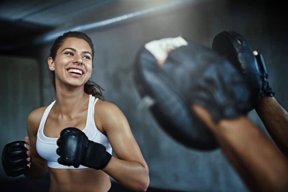 I'm starting to train seriously on Monday! - A girl is enjoying the results of training.