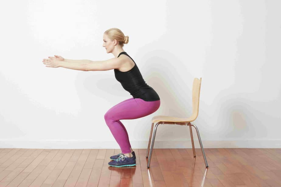 Best Exercises to the Step Without Pain - chair exercise.
