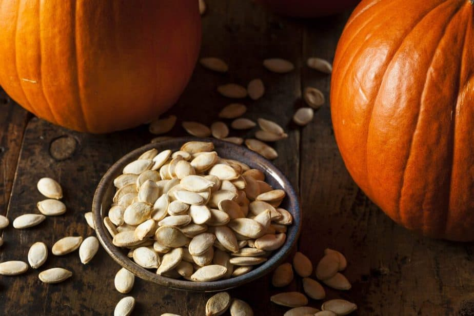 One of 10 Energy Bombs for Your Strength - Pumpkin seeds.