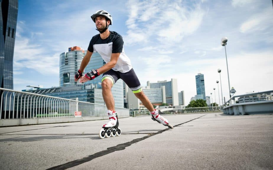 How to become more beautiful and healthier with the roller skates - a guy is   driving a roller skate.