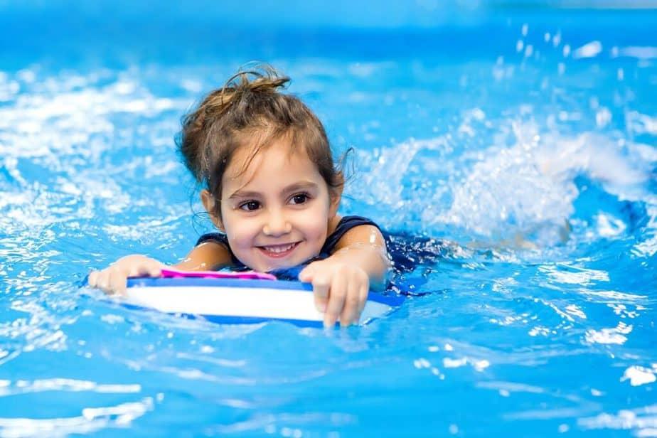 Swim for Better Health - A little child swimming.