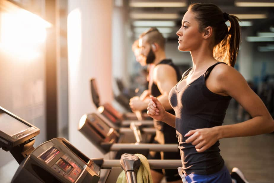 The better side of fitness - a group is training at the gym.