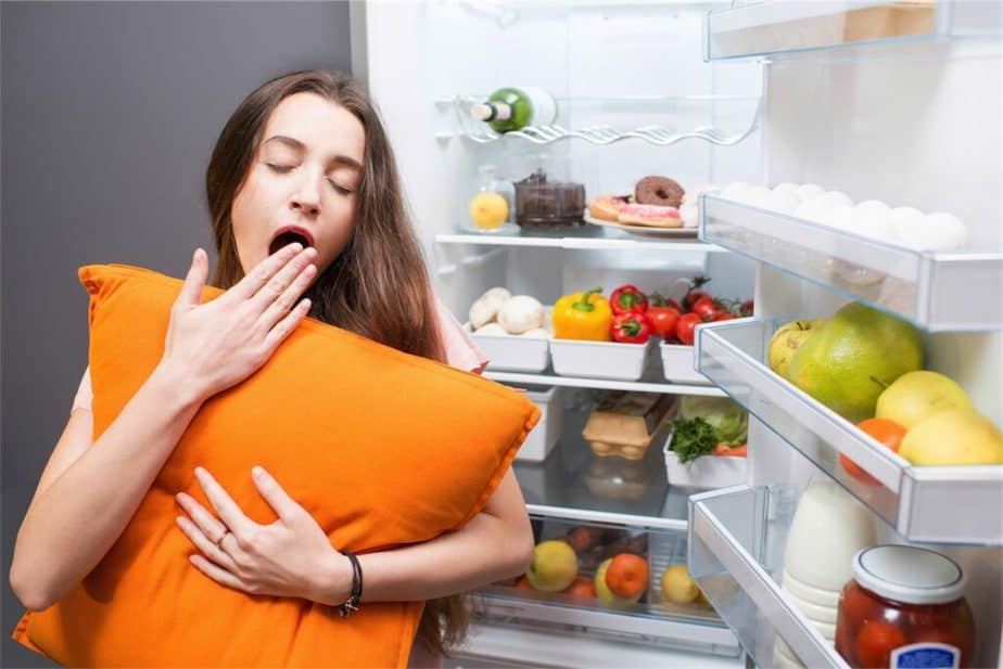 Simple Fitness Tips For Addiction Recovery - A girl is preparing to sleep after eating healthy food.