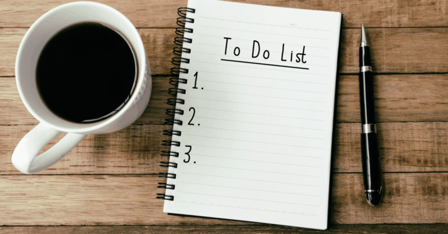 5 Tips to Overcome Laziness - To do list.