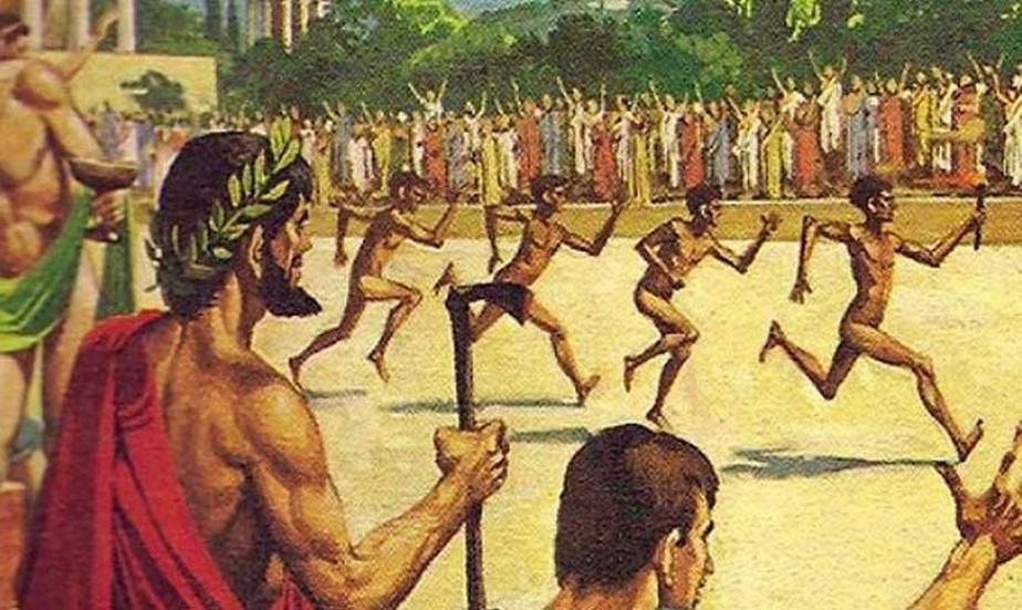 A Brief and Instructive History of Fitness Development - Old Greeks running at palestra.