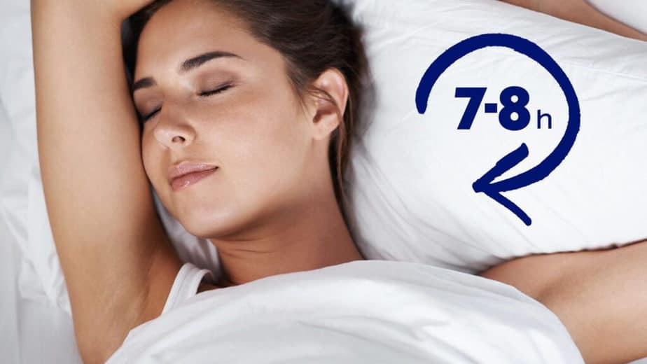 Interesting Facts from the Fitness World - a girl is sleeping (7-8 daily)